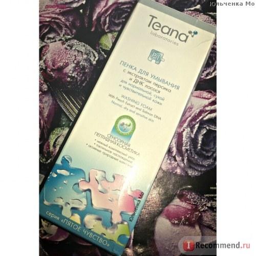 Пенка для умывания Teana Р1 пенка для умывания с экстрактом персика и ДНК лосося,для нормальной,сухой и чувствительной кожи фото